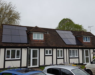 2x 2.4kW solar systems in Haywards Heath, West Sussex